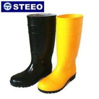 Quality 2017 cheap steel toe PVC safety rain boots for sale