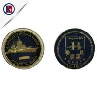 China Marine Corps Antique Gold Commemorative Coins on sale