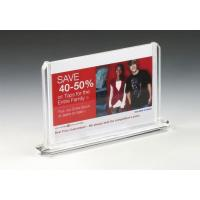 Buy cheap Indoor Black Acrylic Table Billboard Holders from wholesalers