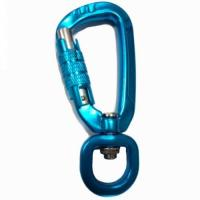 Leash Carabiner 7075 aluminum swivel carabiner clips for dog leads Manufactures