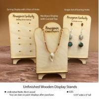 Antique Wooden Earring And Necklace Displays Manufactures