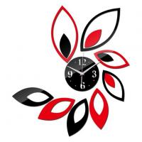 Quality Modern Acrylic Flower Wall Clock for sale