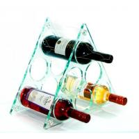 Buy cheap Tabletop Triangle Acrylic Wine Storage Holder from wholesalers