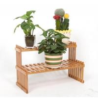 China Tabletop Natural Bamboo Wooden Plant Stand on sale