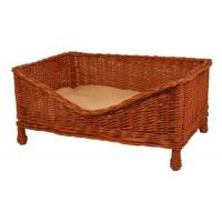 China Dog products Luxury Wicker Dog Bed with Cushion on sale