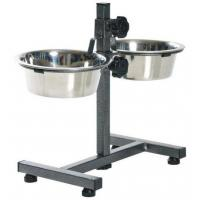 China Dog products stainless steel bowls with adjustable stand on sale