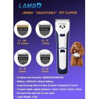 LB9860 professional adjustable pet hair clippers Manufactures