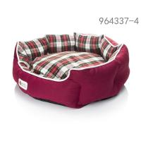 Red scottish Donut dog beds full size Manufactures