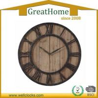 China square home decor wooden oversized wall clock on sale