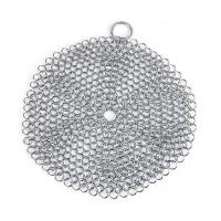 China Cast Iron Cleaner Set 7x 7 Stainless Steel Chainmail Scrubber for on sale
