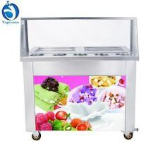 Buy cheap Fried ice cream machine Double pan fry ice cream rolling machine from wholesalers