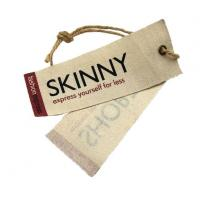 Recyclable Canvas Tag With Hemp String Hang Tags Manufactures