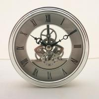 Buy cheap HR Diameter 97MM Silver Perspective Clock from wholesalers