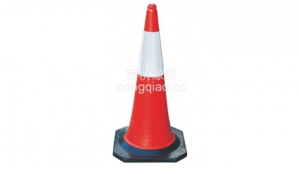 China 100 Cm Height Plastic Road Cone with Rubber Base