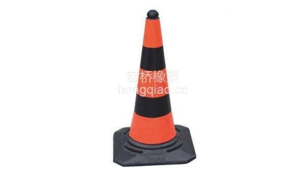 China 75cm Plastic Road Cone with Three Reflective Sheets