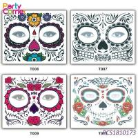 Skull Temporary Face Tattoo Manufactures