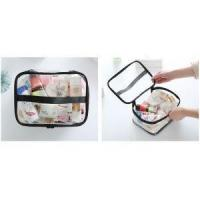 China Clear Plastic Makeup Bag with Zipper on sale