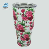 China Retro Pattern Stainless Steel Insulation Coffee Thermal Tumbler on sale
