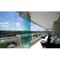 China Balcony Glazing Glass Movable Partition Walls Spain on sale