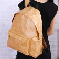 China Simple Washable Kraft Paper Backpack on sale