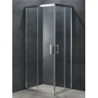 Buy cheap Corner Entry Square Shower Cabin with Double Sliding Door 6mm Clear Glass from wholesalers