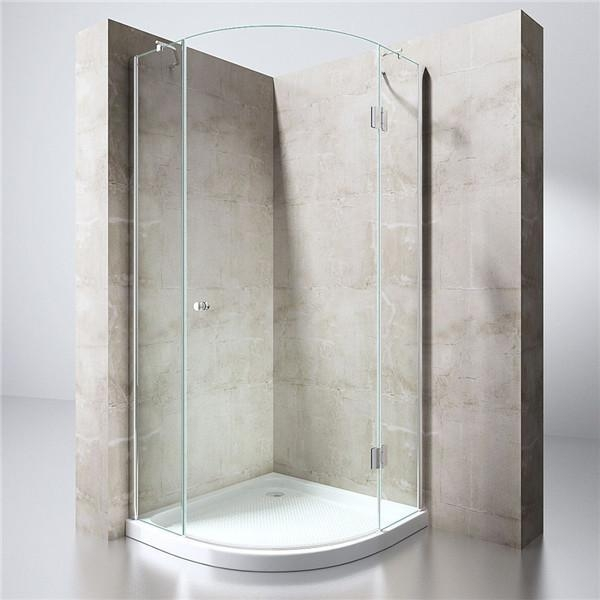 Quality Frameless Single Hinged Door Quadrant Shower Enclosure for sale