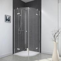 Quadrant Double Hinged Door Shower Cabin Frameless Design Manufactures
