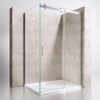 Single Sliding Door with Side Panel Rectangular Shower Enclosure Manufactures