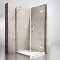 Single Hinged Door with Inline Panel and Side Panel Square Shower Enclosure Manufactures