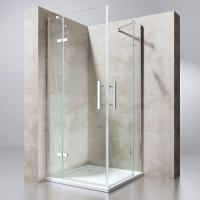 Square Shower Cubicle Corner Entry Double Hinged Door Frameless Trend Manufactures