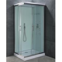 Buy cheap Offset Corner Entry Shower Cabin Double Sliding Door with 2 Back Side Panles from wholesalers