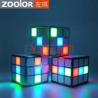 China Creative LED Cube Stereo Speaker with Built-in Microphone for Party on sale