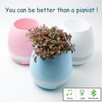 2017 Innovative Gift Smart Bluetooth Music Flowerpot Touching With Piano Sound Manufactures
