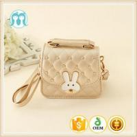 China factory kids bags gold colour girls handbag wholesale children lovely appliqued totes Manufactures