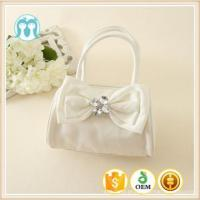 Best price Cute Little Girls pink and beige bags Colorful Bowknot PU good quality Kids Handbags Manufactures