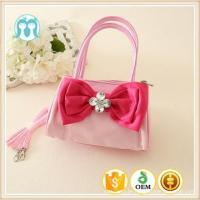 Chinese colorful child tote handbags girls lovely PU handbags safe material kid crossbody bag Manufactures
