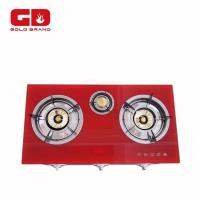 Table Gas Stove Double Three Glass Gas Stove