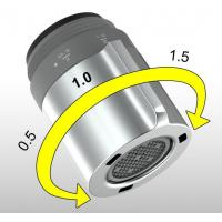 China Aerators item 0400 adjustable water flow faucet aerator 0.5/1/1.5GPM on sale