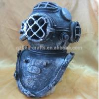China Aquarium Helmet Wreckage Polyresin Aquatic Crafts on sale