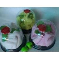Flower Shaped Cake Towel, 100% Cotton Material (YT-1909) Manufactures