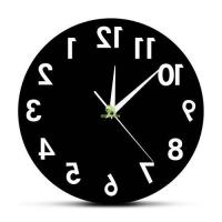 Reverse Wall Clock Unusual Numbers Backwards Modern Decorative Clock Watch Manufactures