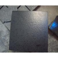 Granite Chinese G684 Black Granite Slabs Leather Finished Manufactures