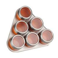 China Triangle Shape Stainless Steel Magnetic Spice Rack on sale