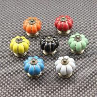 Buy cheap european ceramic door cabinets cupboard pumpkins knobs handles pull drawer from wholesalers