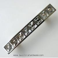 Buy cheap crystal handle for furniture 64mm drawer pulls dresser handles chrome plated ( pitch:64mm) from wholesalers