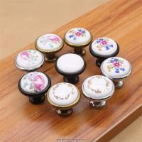 Buy cheap ceramic zinc alloy kitchen cabinet furniture knob cupboard door pulls drawer wardrobe knobs from wholesalers
