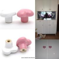 Buy cheap ceramic heart shape kitchen furniture cabinet cupboard drawer pull handle door knobs from wholesalers