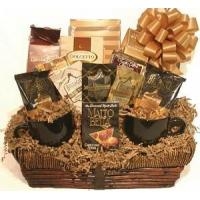 China Gourmet Food Gifts Deb's Treats Coffee Lovers Gourmet Gift Basket on sale