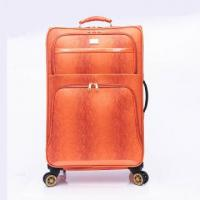 Rolling Expandable 4 wheel carry on PU luggage Manufactures