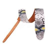 Artificial Snakeskin pattern leather Guitar Strap with Printing Manufactures